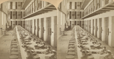 """The Miriam and Ira D. Wallach Division of Art, Prints and Photographs: Photography Collection, The New York Public Library. """"Dining Room, Sing Sing Prison, N.Y."""" New York Public Library Digital Collections. Accessed November 30, 2016. http://digitalcollections.nypl.org/items/510d47e1-5e7a-a3d9-e040-e00a18064a99"""