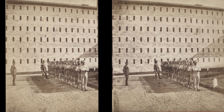 """The Miriam and Ira D. Wallach Division of Art, Prints and Photographs: Photography Collection, The New York Public Library. """"Sing Sing Prison. (Prisoners going to work.)"""" New York Public Library Digital Collections. Accessed November 30, 2016. http://digitalcollections.nypl.org/items/510d47e1-5e8c-a3d9-e040-e00a18064a99"""