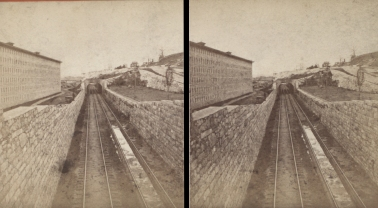 """The Miriam and Ira D. Wallach Division of Art, Prints and Photographs: Photography Collection, The New York Public Library. """"Sing Sing Prison. (R.R. tracks near the Prison.)"""" New York Public Library Digital Collections. Accessed November 30, 2016. http://digitalcollections.nypl.org/items/510d47e1-5e98-a3d9-e040-e00a18064a99"""