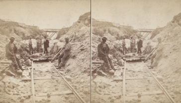 """The Miriam and Ira D. Wallach Division of Art, Prints and Photographs: Photography Collection, The New York Public Library. """"Sing Sing Prison. (Prisoners at work at the R.R. tracks.)"""" New York Public Library Digital Collections. Accessed November 30, 2016. http://digitalcollections.nypl.org/items/510d47e1-5e9c-a3d9-e040-e00a18064a99"""
