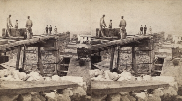 """The Miriam and Ira D. Wallach Division of Art, Prints and Photographs: Photography Collection, The New York Public Library. """"Sing Sing Prison. (Prisoners at work at the quarries.)"""" New York Public Library Digital Collections. Accessed November 30, 2016. http://digitalcollections.nypl.org/items/510d47e1-5e9e-a3d9-e040-e00a18064a99"""
