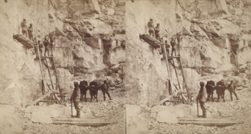 """The Miriam and Ira D. Wallach Division of Art, Prints and Photographs: Photography Collection, The New York Public Library. """"Sing Sing Prison. (Prisoners at work at the quarries.)"""" New York Public Library Digital Collections. Accessed November 30, 2016. http://digitalcollections.nypl.org/items/510d47e1-5ea2-a3d9-e040-e00a18064a99"""
