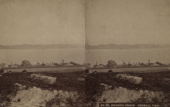 """The Miriam and Ira D. Wallach Division of Art, Prints and Photographs: Photography Collection, The New York Public Library. """"Singsing Prison, general view."""" New York Public Library Digital Collections. Accessed November 30, 2016. http://digitalcollections.nypl.org/items/510d47e1-5eae-a3d9-e040-e00a18064a99"""