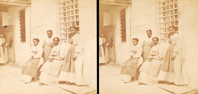 """Schomburg Center for Research in Black Culture, Photographs and Prints Division, The New York Public Library. """"Female Convicts, Sing Sing Prison."""" New York Public Library Digital Collections. Accessed November 30, 2016. http://digitalcollections.nypl.org/items/510d47df-79a7-a3d9-e040-e00a18064a99"""