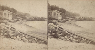 """The Miriam and Ira D. Wallach Division of Art, Prints and Photographs: Photography Collection, The New York Public Library. """"Guard House on the margin of the Hudson, south of the Prison."""" New York Public Library Digital Collections. Accessed November 30, 2016. http://digitalcollections.nypl.org/items/510d47e1-5e65-a3d9-e040-e00a18064a99"""