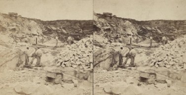 """The Miriam and Ira D. Wallach Division of Art, Prints and Photographs: Photography Collection, The New York Public Library. """"Marble Quarries of the Prison, with Convicts at work."""" New York Public Library Digital Collections. Accessed November 30, 2016. http://digitalcollections.nypl.org/items/510d47e1-5e6b-a3d9-e040-e00a18064a99"""